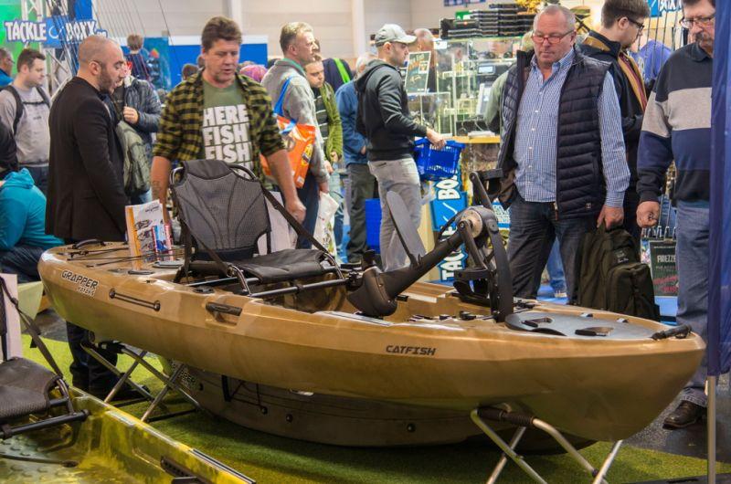 angeln mit kajak messe aqua fisch 1333