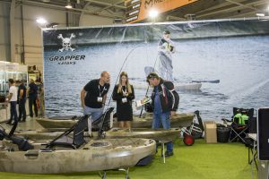 hunting fishing expo grapper kajak test 6